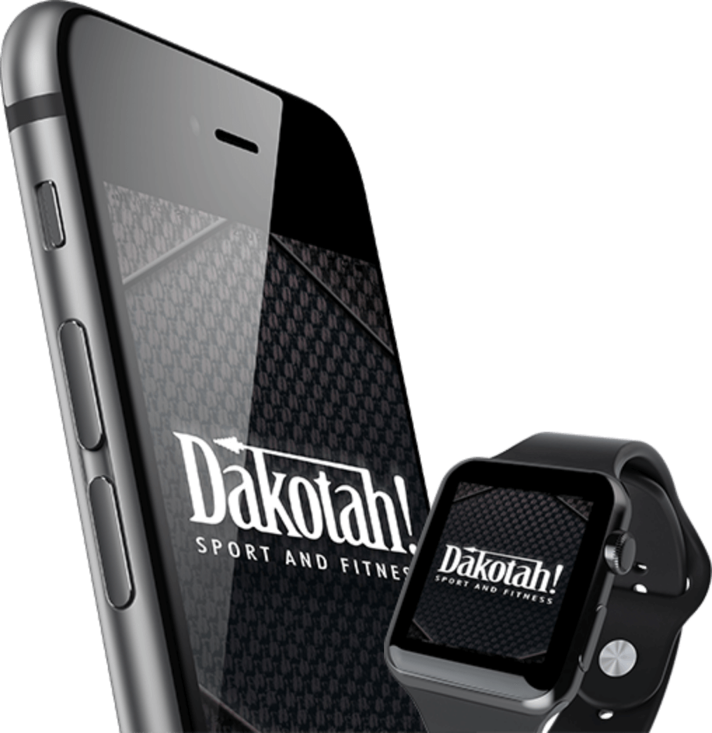 iPhone and iWatch displaying Dakotah! Sport and Fitness app