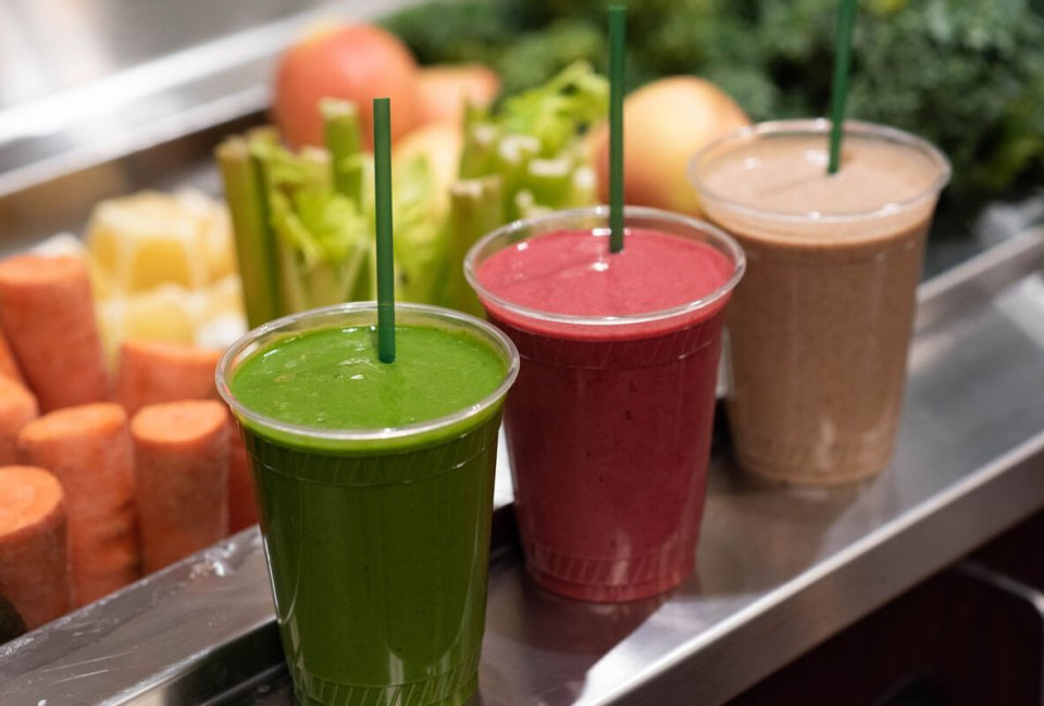 smoothies made fresh from the reFresh Bar at Dakotah! Sport and Fitness