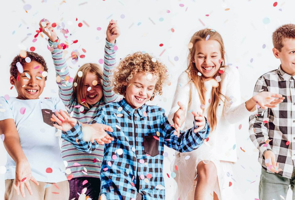 kids having fun at a lock-in party